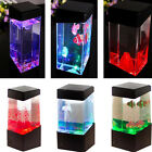 Jellyfish Fish Aquarium Tank Volcano LED Water Lamp Sea Mood Night Light New