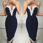Sexy Women's Bandage Bodycon Lace Evening Party Cocktail Short Mini Dress Summer
