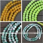 "4mm Natural Jade Dyed Gemstone Round Ball Beads Loose Jewelry Making DIY 15.5""L"