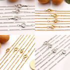 2/10Pcs Gold/Silver/White Cross Chain Round Clasp Necklace Jewelry Making 43cm