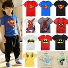 Toddler Baby Kids Boys T Shirt Tops Spiderman Batman Cos Outfits Clothes Child