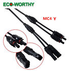 Various Y Branch with MC4 Connectors Solar Cable Adapter IP67 for Solar Panel