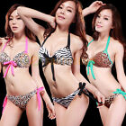 NEW Hot 2 Pcs Womens Swimsuit Swimwear Push Up Padded Beach Bikini Set Bowknot