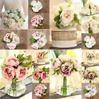 Hot Artificial Fake Peony Silk Flower Bridal Hydrangea Home Wedding Garden Decor