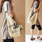 NEW Women Canvas Casual Handbag Letter Shoulder Bag Cotton Lady Messenger Bag SA