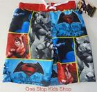 BATMAN VS. SUPERMAN Boys 4 5 6 7 8 10 12 Shorts SWIM TRUNKS Bathing Suit Hero
