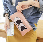 2016 Clutch Change Coin Cards Bag Women Purse Ladies Handbag Two Big Eyes Wallet