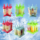 6Pcs/Set Ice Cream Frozen Popsicle Maker Mold Icepop Block Icy Pole Lolly DIY