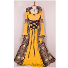I71 Yelowl Hooded Gown Game Thrones Renaissance Medieval Queen Dress Up Costume