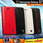 Genuine Real Leather Flip Wallet Case Cover For Samsung Galaxy S7