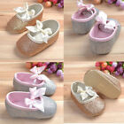 Elegant Glitter baby shoes sneaker anti-slip soft sole toddler size 0-18 months