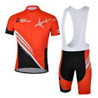 Red Aircraft Cycling Clothing Set Short Sleeve  Bicycle Jersey Bib Bike Shorts