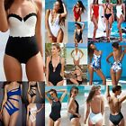 Women Push-up Padded Bra Bikini One-piece Monokini Swimsuit Beach Suit Swimwear