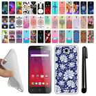For Alcatel OneTouch Elevate 4037V 5017E TPU SILICONE Protective Case Cover+ Pen