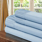Chic Home Pleated Microfiber Sheet Blue - Twin, Full, Queen, King