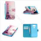Hand Strap PU Leather Flip Stand Paris Eiffel Tower Case Cover For Cele phones