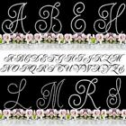 Monogram Cake Toppers Bling Cake Topper Real Crystals Silver A-Z Any Letter