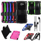 For Verizon LG K4 4g LTE Phone Case Holster Cover Stand Headset Earbud EarPhone