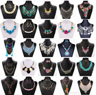 Fashion Jewelry Lady Chunky Crystal Statement Bib Chain Choker Pendant Necklace