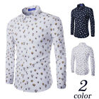 Fashion Mens Long sleeve Slim Fit Top Formal Tops Casual Dress Shirts 2 Colors