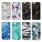 Classic Soft Granite Marble Grain TPU Phone Case Cover for iPhone X 6S 8 Plus SE