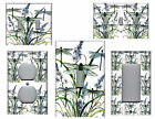 DRAGONFLIES BLUE GREEN ON WHITE HOME DECOR LIGHT SWITCH PLATES AND OUTLETS