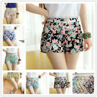 Womens Girls Stretch High Waist Beach Floral mini Shorts party clubwear Summer