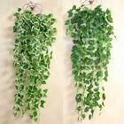 Artificial Wall Floral Vine lvy Silk Fake Flowers Plastic Green Leaf Rattan MSUK