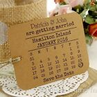 Personalised Kraft Mini Calendar Save the Date Tags with Envelope Wedding