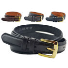 "Mens 1"" (25mm) Genuine Leather Lined Trouser - Suit Belt by Milano"