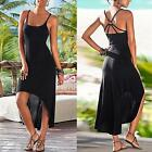 Sexy Women Summer Cotton Casual Camisole Long Maxi Evening Party Beach Dress CI