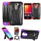 Phone CoverFor LG Treasure 4g LTE / LG Tribute 5 4g Case Stand USB Charger Film