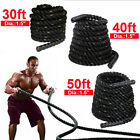 "1.5"" Poly 30/40/50ft Battle Rope Workout Strength Training Fitness Rope Exercise"