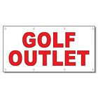 Golf Outlet Red 13 Oz Vinyl Banner Sign With Grommets