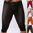 Mens Sexy Breathable See-Through Underwear Short Pants Sleep Underpants Size S-L