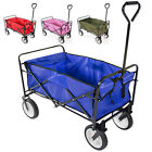 4 Colors Folding Collapsible Wagon Cart Garden Buggy Shopping Gift Toy Sports