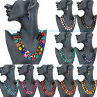 Fashion Women Wedding Party Resin Pendant Necklace Chain Earrings Jewelry Set