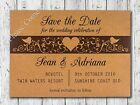 Personalised Kraft Forever Love Wedding Save the Date Cards with Envelopes