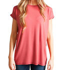 Piko Women's Rolled Sleeve Short Sleeve Top