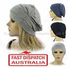 Ladies Slip On Cotton Hat Cap Hair Loss Beanie Chemo Head Cover Hat Headcover