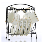 Mug Stand Coffee Cup Holder Dish Plates Storage Tray Rack Organizer Hanger Iron