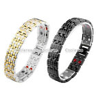 4 in 1 Steel Grid Magnetic Energy Germanium Men's Therapy Power Health Bracelet