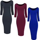 Chic Lady Slim Bodycon 3/4 Sleeve Evening Sexy Party Cocktail Pencil Sexy Dress