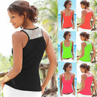 Womens Summer Sexy Vest Lace V-neck Sleeveless Blouse Casual Tank Tops T-Shirt