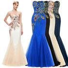 Plus Size Fishtail Mermaid Prom Dresses Formal Wedding Party Evening Ball Gown