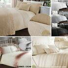 Quilt Duvet Cover & Pillowcase Bedding Bed Sets Sequined Cream Black 3 Sizes NEW