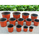 50PCS Flowerpot Plastic Nursery Plant Pots Planter Containers 90-210mm Wholesale