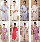 Fashion Brand Bath Robe Chinese Style Men's Night Robes Sleepwear Kimono Gown