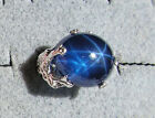 UNISEX 53 CT PMP LINDE LINDY TWILIGHT BLUE STAR SAPPHIRE CREATED DRAGON RING S/S