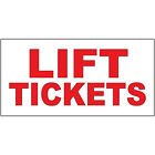 Lift Tickets Red DECAL STICKER Retail Store Sign